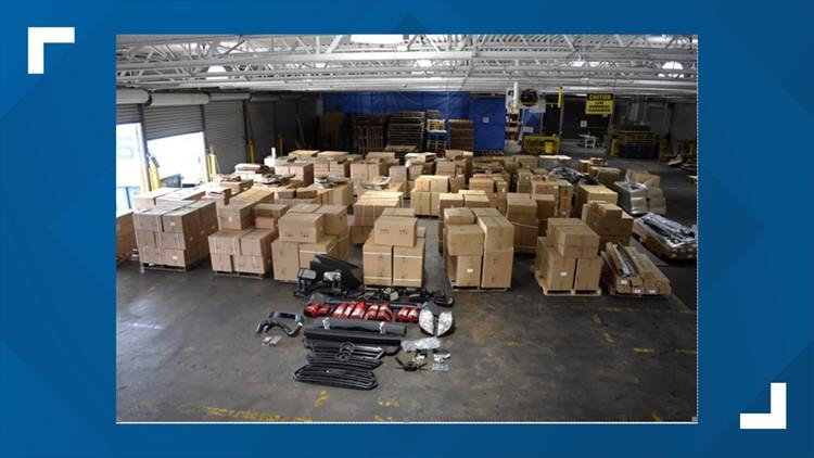 U.S. Customs agents seize cache of counterfeit auto parts from Philadelphia port