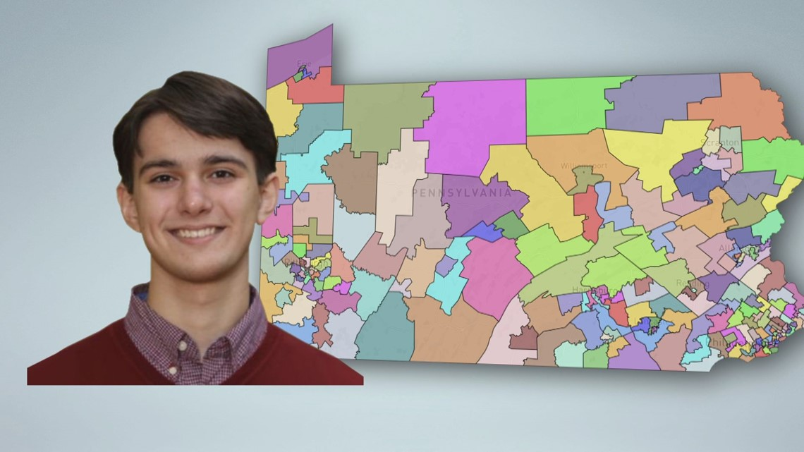 York County teen wins statewide redistricting map competition   FOX43 Capitol Beat