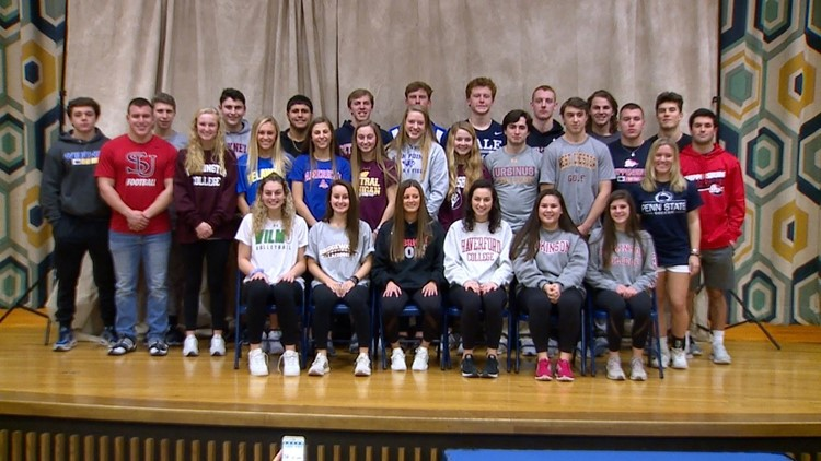 Blue Streaks celebrate 28 on National Signing Day