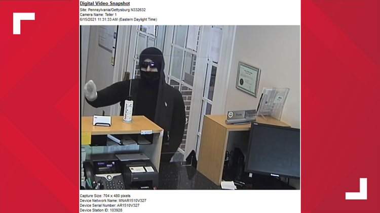 Police are investigating bank robbery in Gettysburg