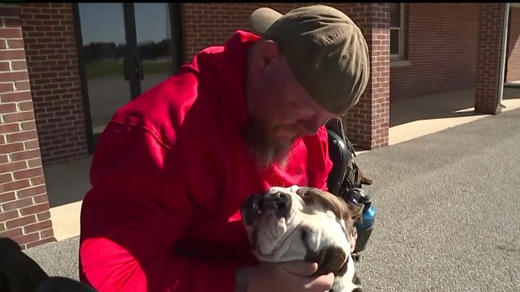 Retired police officer prohibited from donating plasma because of service dog