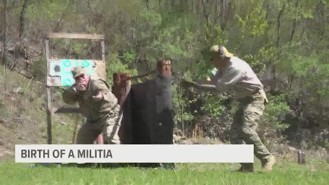 Birth of a militia: Men in uniform