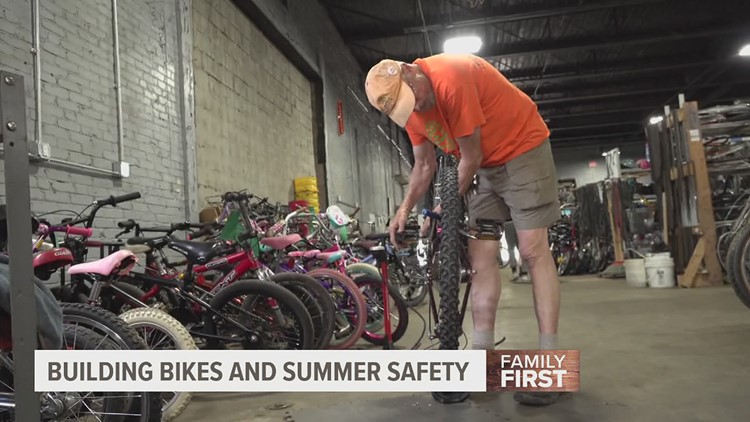 'Recycle Bicycle' teaches summer safety as bike injuries increase across region | Family First with FOX43