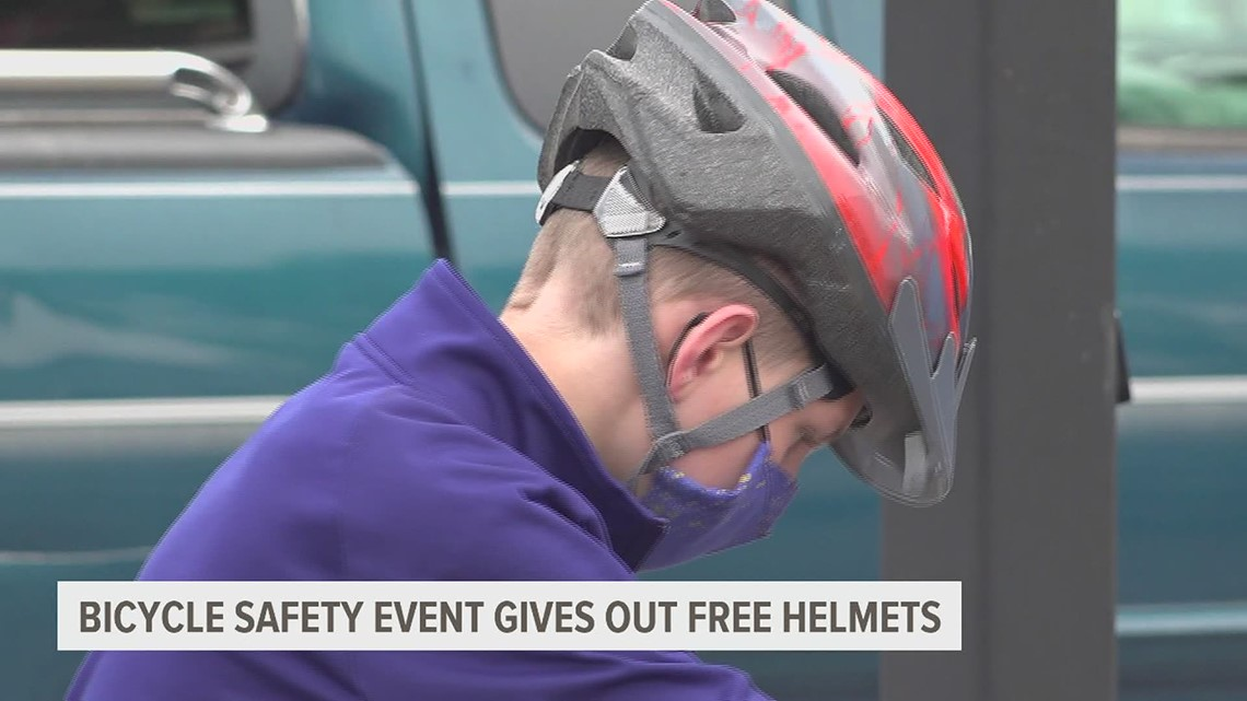 Bicycle safety event in York raises awareness and gives out free helmets