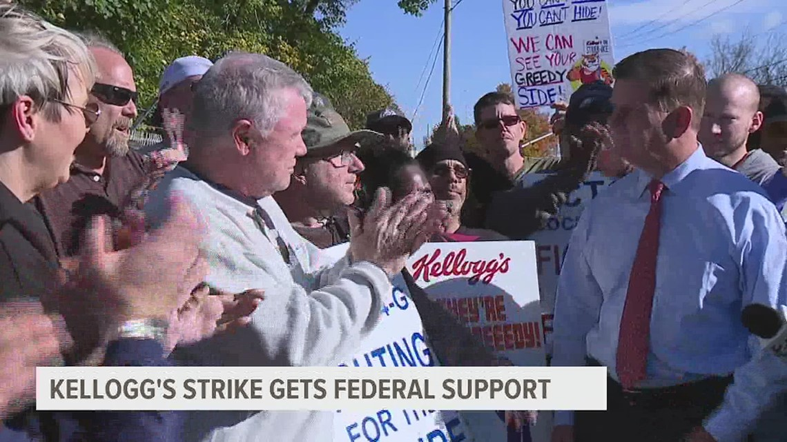 U.S. Secretary of Labor visits Lancaster Kellogg's plant to support striking workers