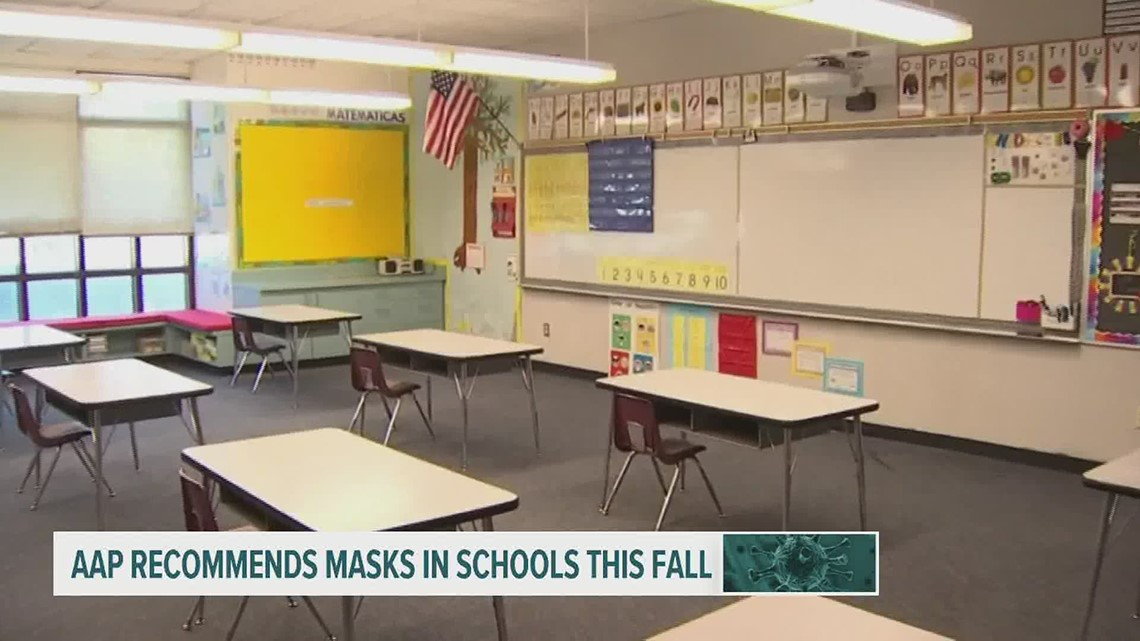 AAP recommends masks in schools this fall
