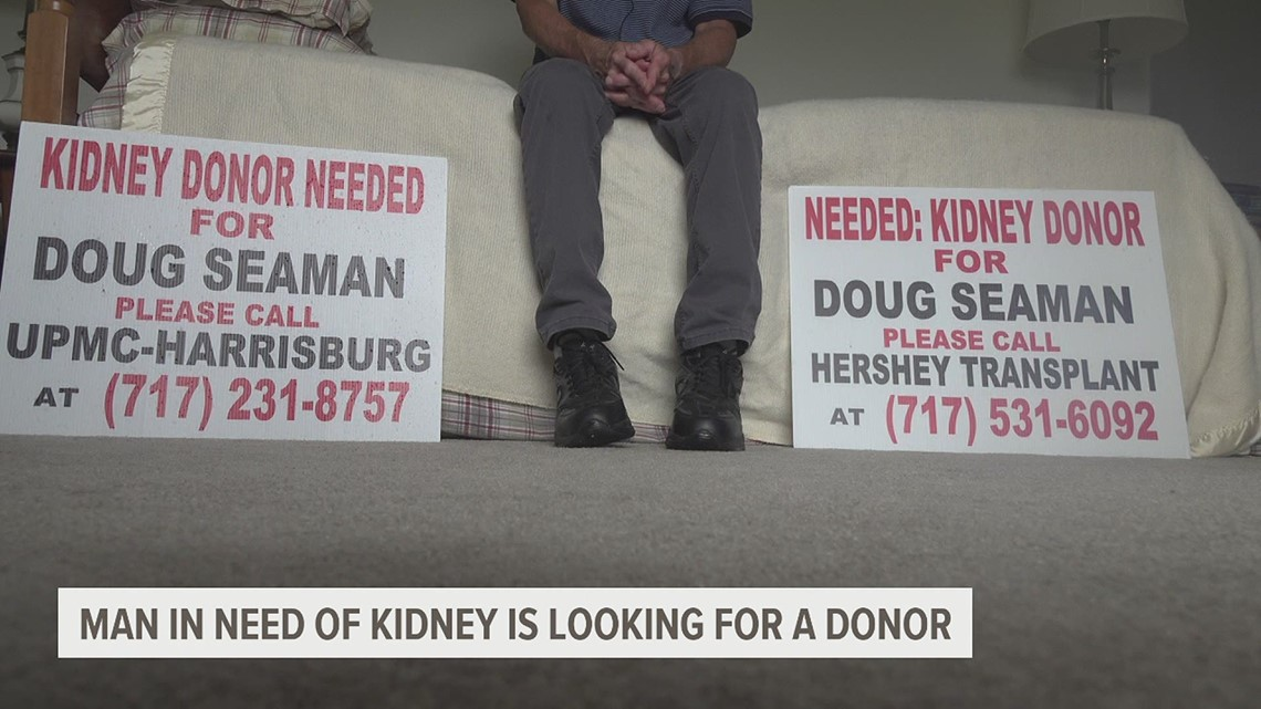 A Dauphin County man in need of a kidney is looking for his perfect match