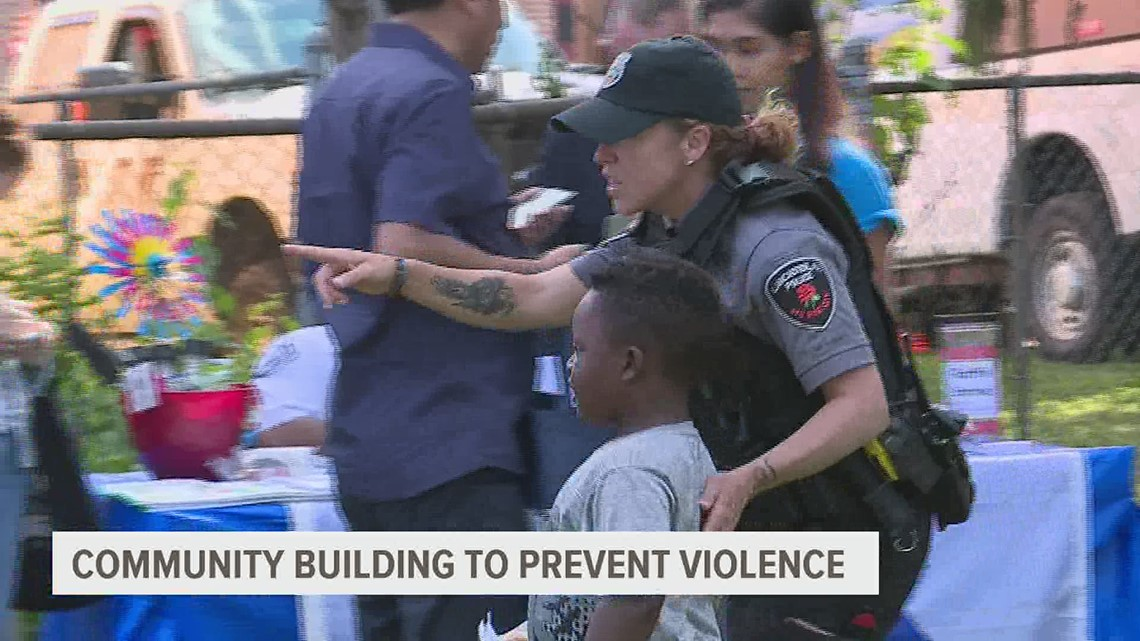 Community building to prevent violence