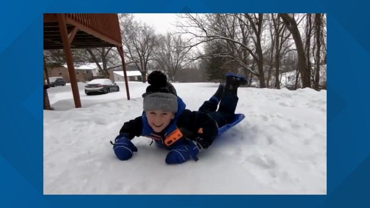 How nearly 40 people helped a York County 5-year-old get the sledding day of his dreams