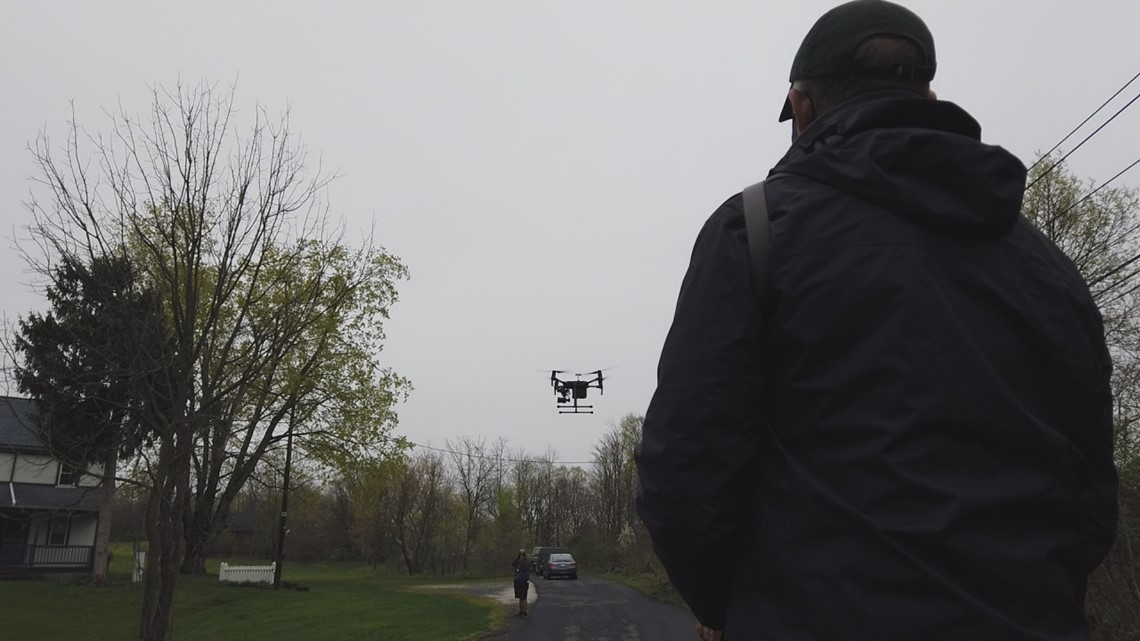 Harrisburg University, West Shore Historical Society partner to preserve historic landmarks with a drone