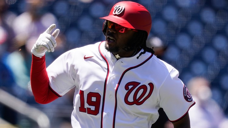 Bell, Schwarber homer as Corbin pitches Nats past Phils 5-1