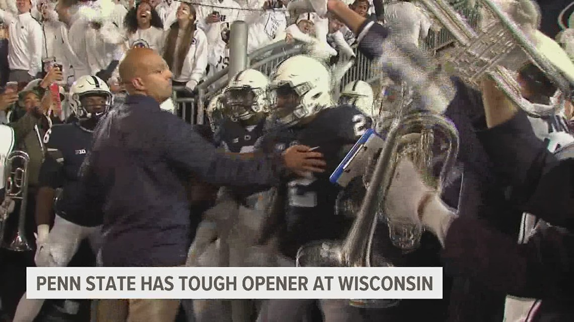 Penn State faces tough opener at Wisconsin