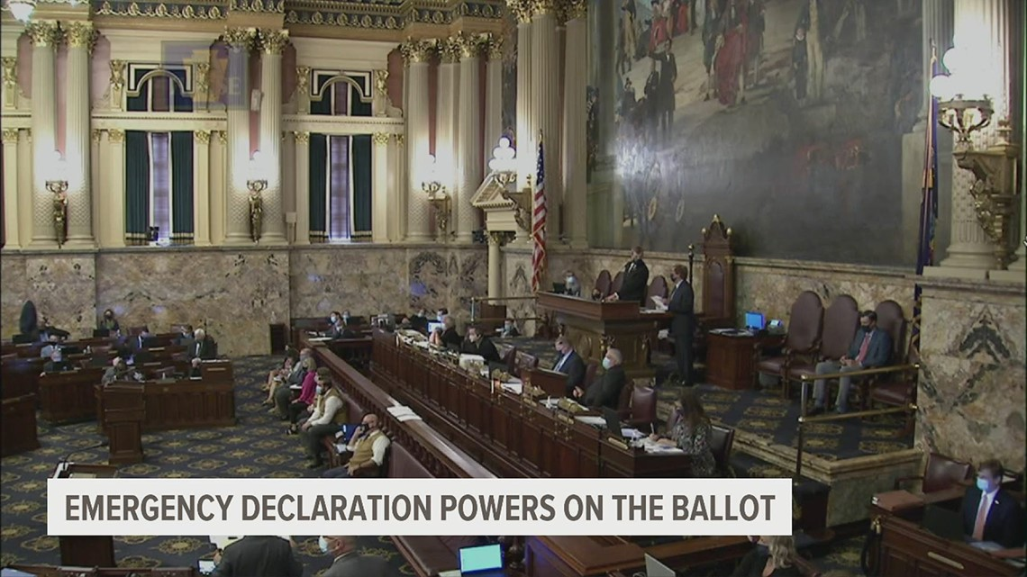 Governor's emergency powers addressed in ballot questions