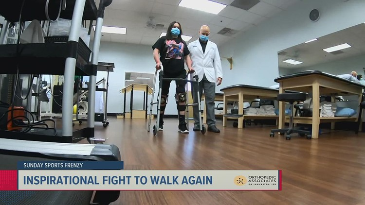 Former Northern York cheerleader inspirational fight to walk