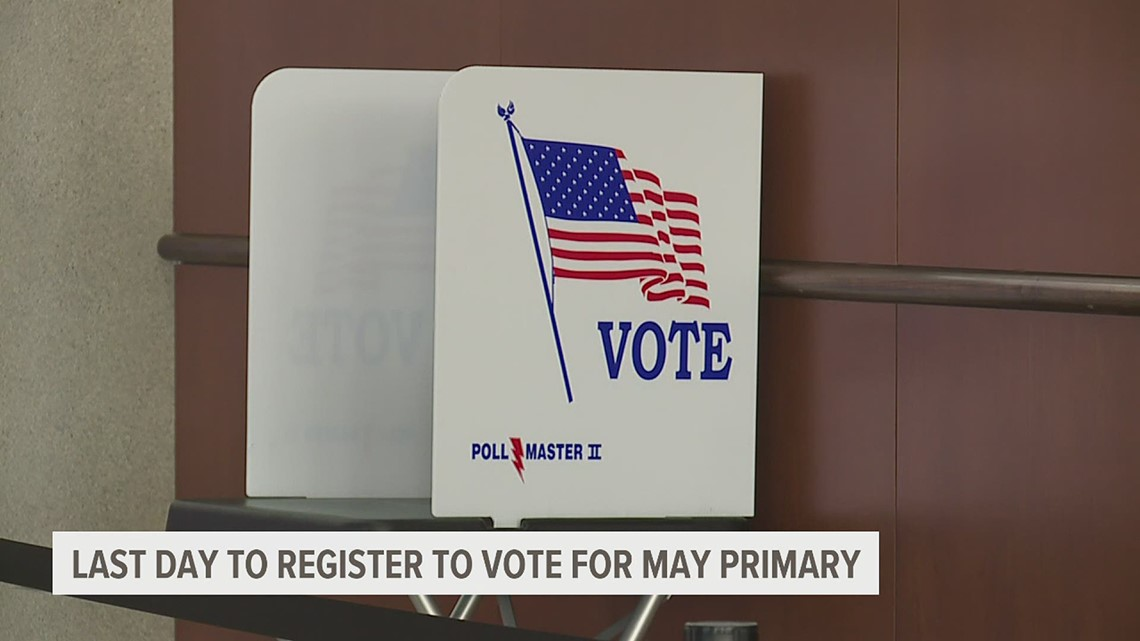Today is the last day to register to vote in the primary election