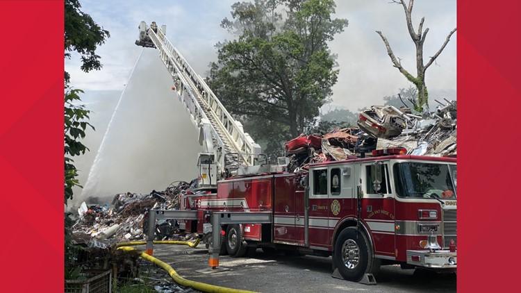 Crews on scene of fire in Adams County