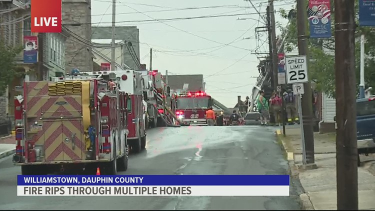 Fire Rips Through Multiple Homes in Dauphin County 930am Update