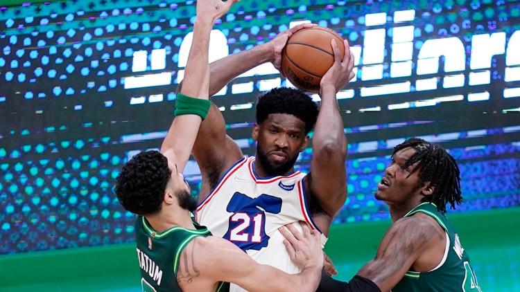 Embiid scores 35, 76ers dominate Celtics in 106-96 win