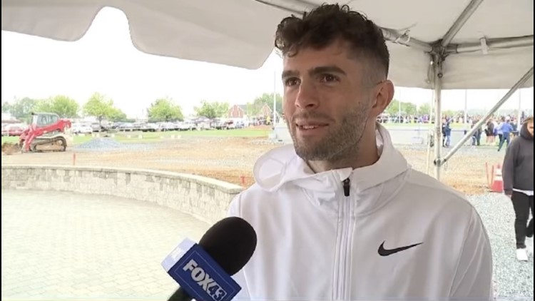 Christian Pulisic returns to Central Pa. for ribbon cutting ceremony at newly donated soccer fields