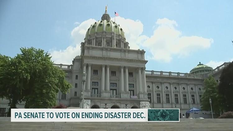 Pennsylvania Senate to vote on ending Gov. Tom Wolf's COVID-19 emergency disaster declaration