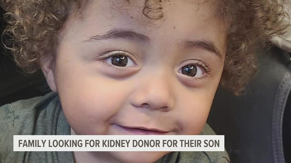 A York family is looking for a kidney donor for their almost 2 year old son