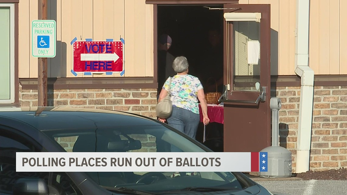 York County polling locations run out of ballots