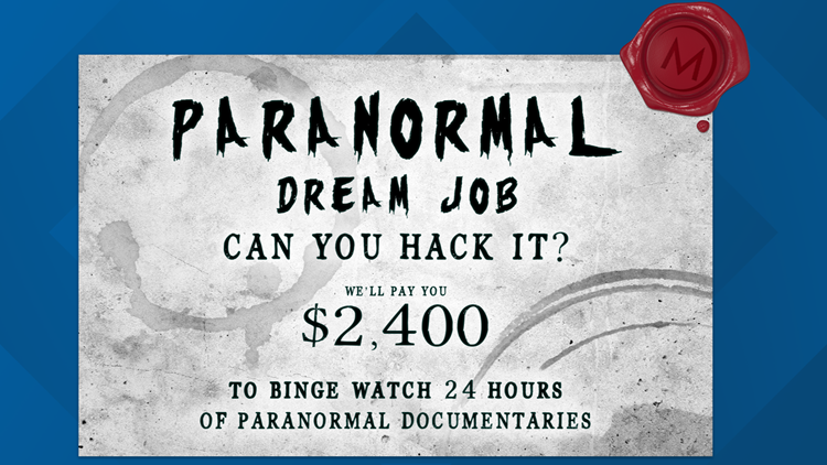 MagellanTV streaming service is offering one lucky viewer $2,400 to watch 24 paranormal documentaries in 24 hours