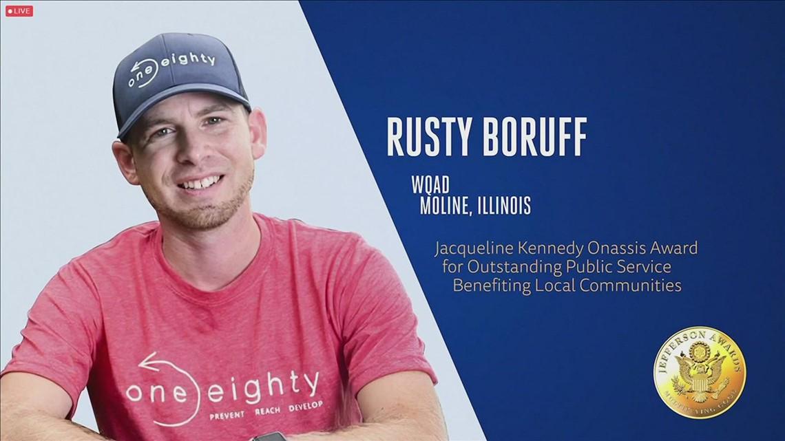 NATIONAL HONOR: Rusty Boruff, of One Eighty, Wins National Award