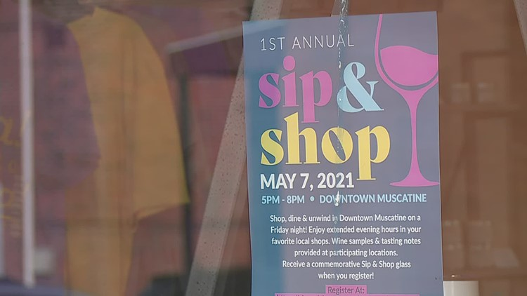 Muscatine wants you to shop local and while drinking wine at their first 'Sip & Shop'