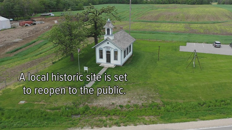 Watch: Restored one-room schoolhouse in Bettendorf set to reopen to the public