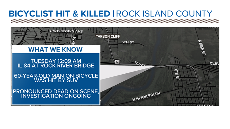 Bicyclist hit and killed on Rock River Bridge in Colona identified
