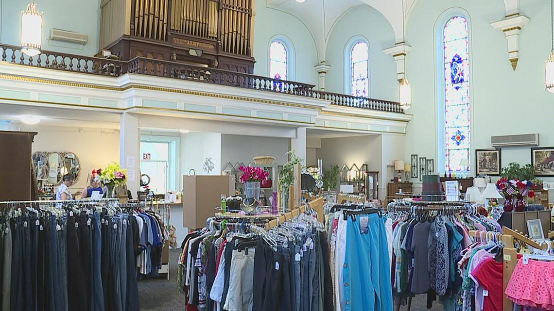 9 months after closing its doors, an Iowa church has been transformed into a donation center
