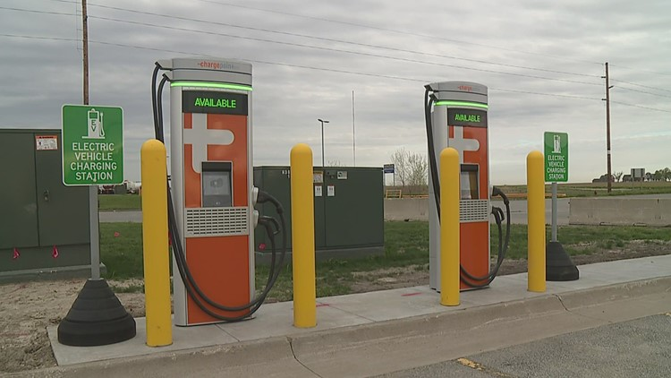 Electric vehicle chargers now available at I-80 Truckstop in Walcott