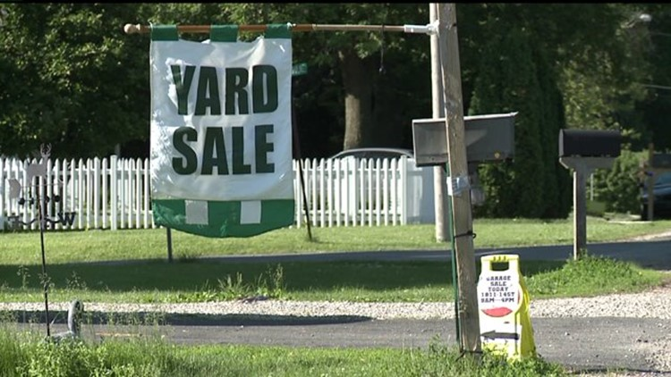 Community Yard Sale where everything is free for the taking
