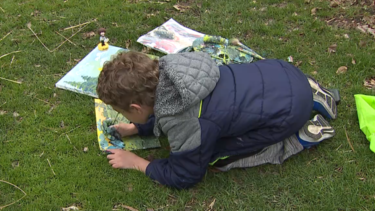 Davenport 8-year-old Bob Ross fan gets his own art exhibition