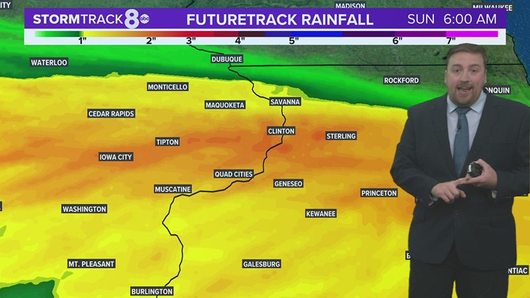 Soaking rain through Sunday morning; Dry conditions return for the afternoon