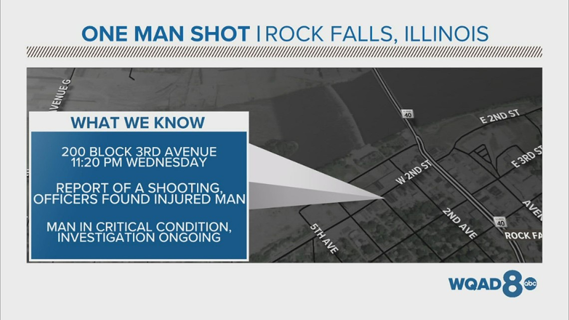 Man dies in hospital after serious injury in second Rock Falls shooting