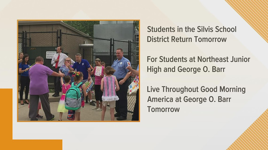 GMQC crew to give high fives to Silvis students