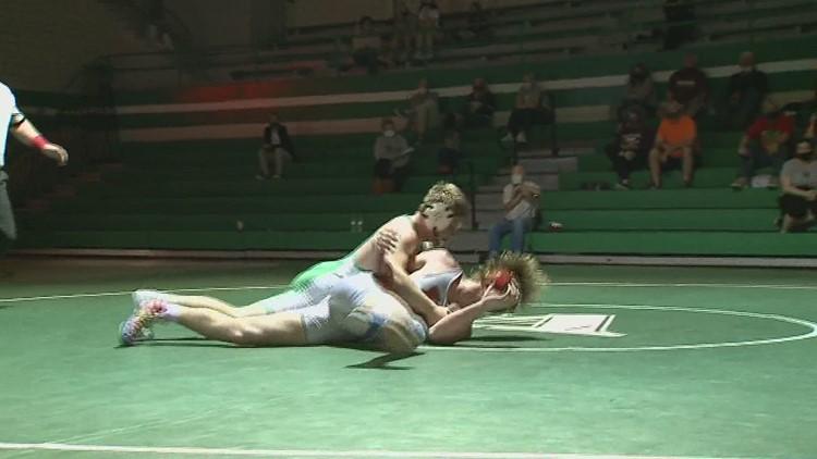 Alleman celebrates Jack Patting's State Wresting Title