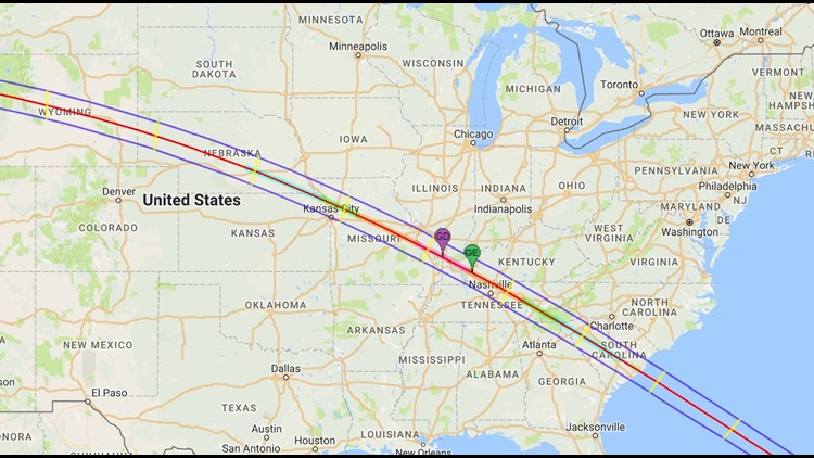 Map Shows How Much Of The Great American Eclipse You Will Be Able