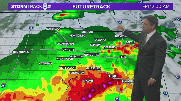 Drenching storms in spots these next few days