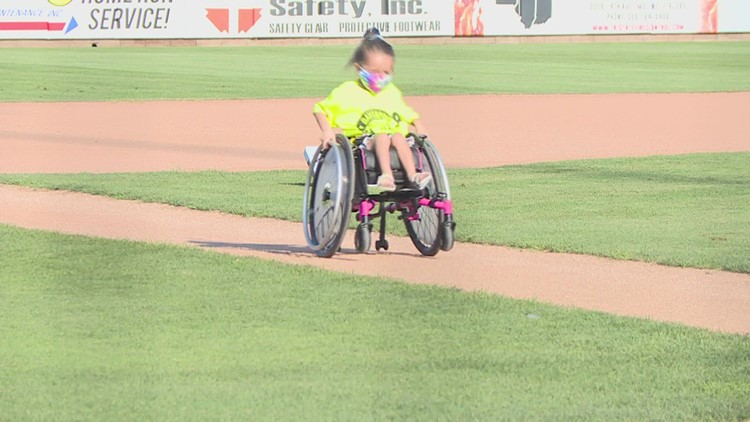 Local girl with spinal muscular atrophy honored at River Bandits game