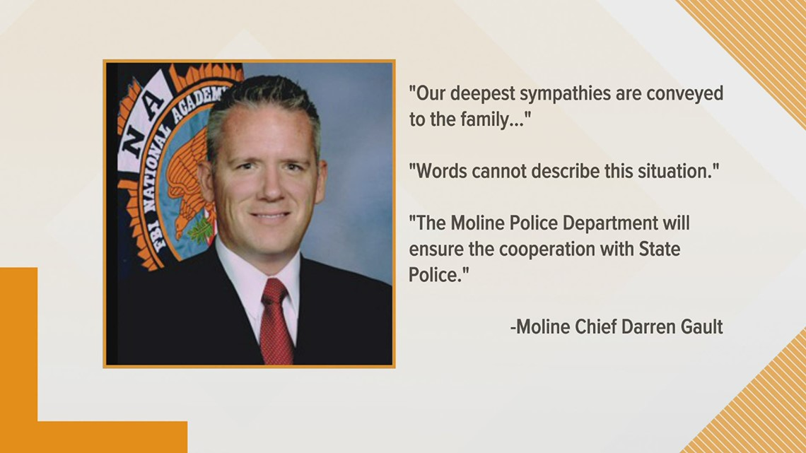 Statements from Moline Police Chief Darren Gault and Moline Mayor Sangeetha Rayapati