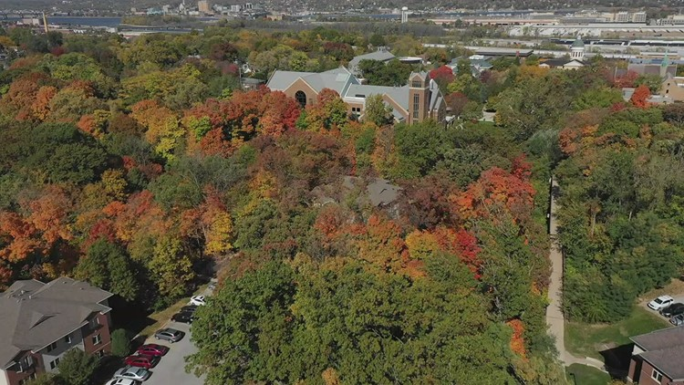 8 in the Air: Beautiful colors at Augustana in the fall