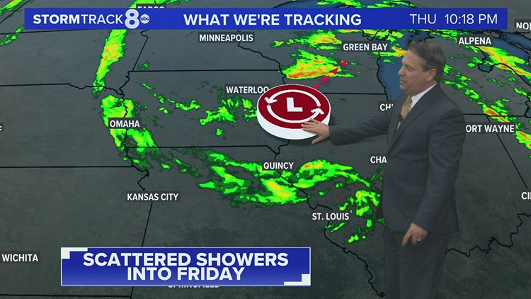 Scattered showers continue in the days ahead