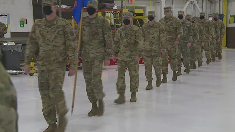 75 Iowa National Guard soldiers prep for deployment with send-off ceremony in Davenport