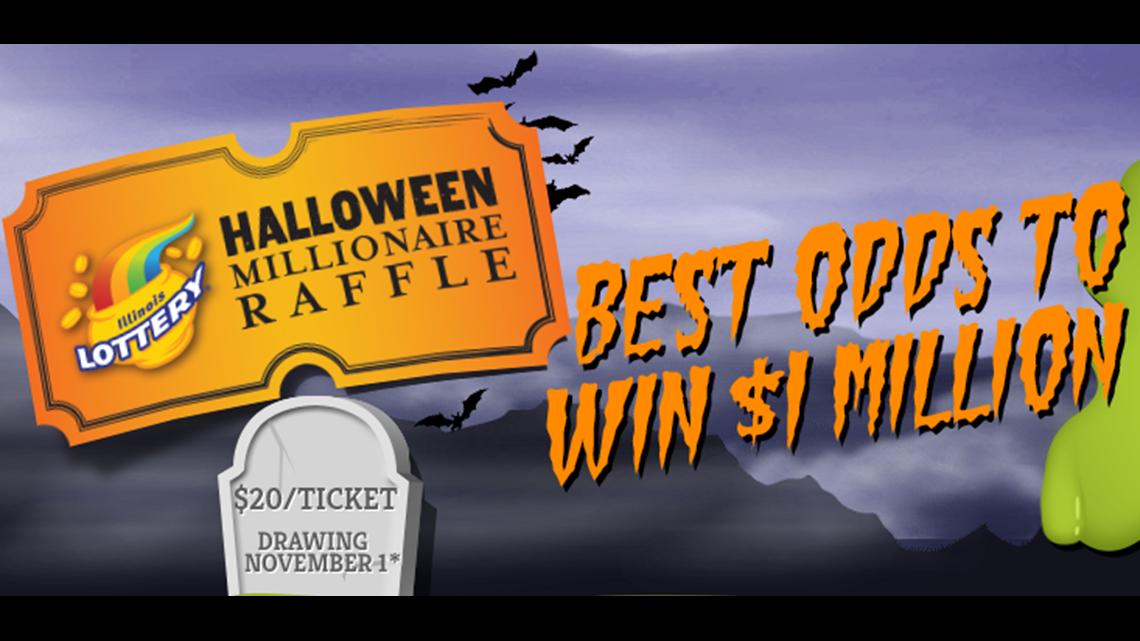 Illinois Millionaire Raffle 2020 Halloween Winning Millionaire Raffle ticket sold at Hy Vee in Milan