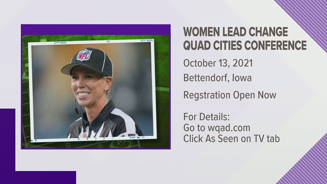 First woman to officiate the Super Bowl will headline women's conference in Bettendorf