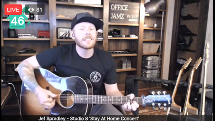 Studio 8 'Stay At Home' concert featuring Jef Spradley