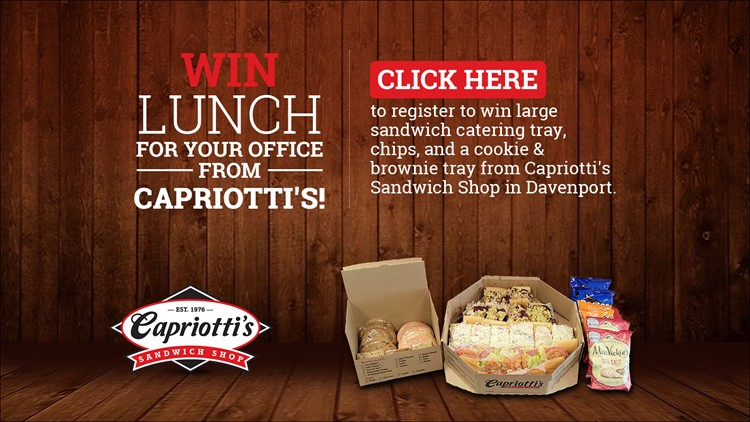 Win lunch for your office from Capriotti's in Davenport